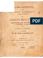 Ultimos momentos del Libertador Simon Bolivar