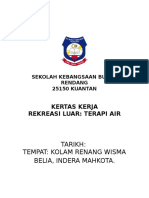 KERTAS KERJA Terapi Air Pk 2017