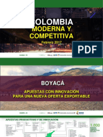 Colombia moderna y  competitiva