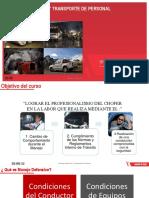 Manejo Defensivo y Transporte de Personal 2018-2