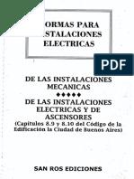 Cod de Edificacion - Parte Electrica y de Ascensores