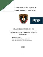Silabos Desarrollado Investigacion Criminal- Eestp Pnp Puno (Cambiando) 2