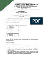 Pengumuman Penerimaan CPNS Jombang 2018