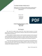 Manajemen Resiko Perbankan, Ritel Dan Manufaktur