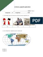 Prueba de Unidad Historia y Geografía Segundo Básico