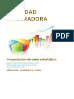 actividad integradora Interpretación Estadística