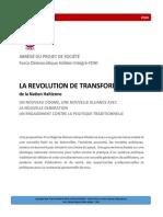 ABRÉGÉ DU PROJET DE SOCIÉTÉ du Parti Politique Force Démocratique Haïtien Intégré-FDHI