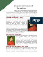 Principales Representantes Del Humanismo