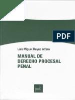 Luis Miguel Reyna Alfaro - Manual de Derecho Procesal Penal (Índice)