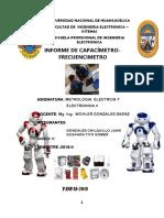 Informe Del Capacimetro y Frecuencimetro