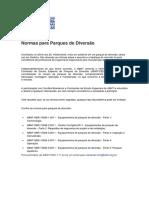 Normas para Parques de Diversão