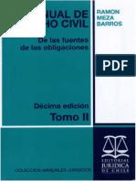 Meza Barros, Ramon_ Manual de Derecho Civil. De las fuentes de las obligaciones. Tomo II 2010.pdf