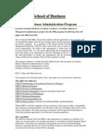 New MBA Program 2011