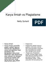 Karya Ilmiah vs Plagiatisme