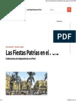 Celebrando Las Fiestas Patrias en El Perú
