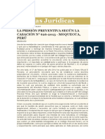 Prision Preventica Cas. Moquegua