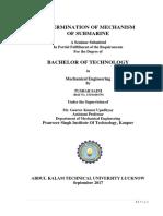 Mechanism of Submarine
