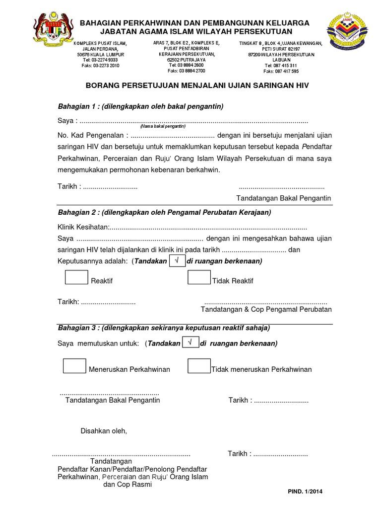 Borang Ujian Hiv Kl Pdf
