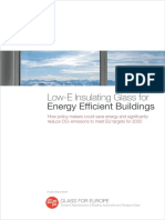 GLASS for EUROPE Low-E Insulating Glass for Energy Efficient Buildings