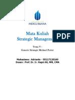 6, SM, Adrianto, Hapzi Ali, Generic Strategy Michael Porter, Universtitas Mercu Buana, 2018