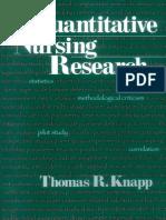 Thomas R. Knapp-Quantitative Nursing Research-SAGE Publications, Inc (1998)