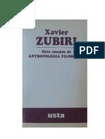 Zubiri, Xavier - Siete ensayos de antropología filosófica.pdf