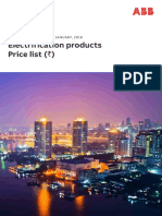 ABB Electrification Products Price List 2018