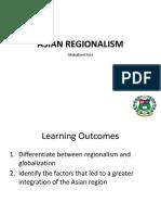 Tcw Asian Regionalism