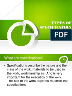 Types of Specification