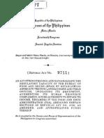 RA 9711-BFAD Strengthening Law