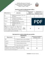 Instrumento de evaluación