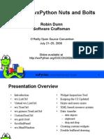 Advanced WxPython Nuts and Bolts Presentation