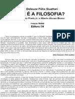 Deleuze Gilles Guattari Fecc81lix o Que Ecc81 a Filosofia