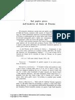 Mercati Sul Papiro Greco Di Firenze