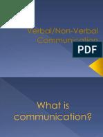 Verbal and non-verbal comunication