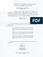 Confederation of Truckers Association of the Philippines Board Resolution No. 5 - Diversion to CTAP common yard