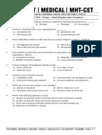 Online Test -1- (25!7!2016) - Zoology - Animal Kingdom (Upto Ctenophora) - Prof SCZ - Final