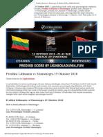 Prediksi Bola Lithuania vs Montenegro