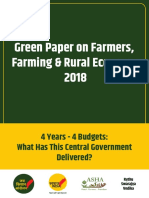 Green Paper - Performance of Modi Govt in Agriculture