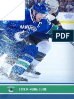 2013-14 Vancouver Canucks Media Guide