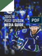2016 Vancouver Canucks Post Season Media Guide