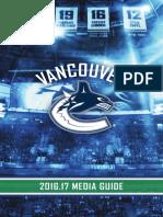 2016-17 Vancouver Canucks Media Guide