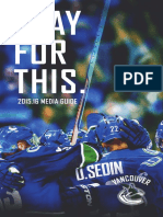 2015-16 Vancouver Canucks Media Guide