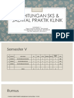 Perhitungan Sks & Jadwal Praktik Klinik