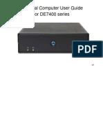 DE7400 Manual