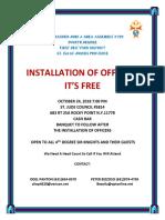 Installation of Officers Flier Oct 24, 2018