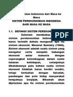 Perekonomian Indonesia Dari Masa Ke Masa