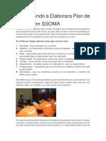 Aprendiendo a Elaborara Plan de Trabajo en SSOMA