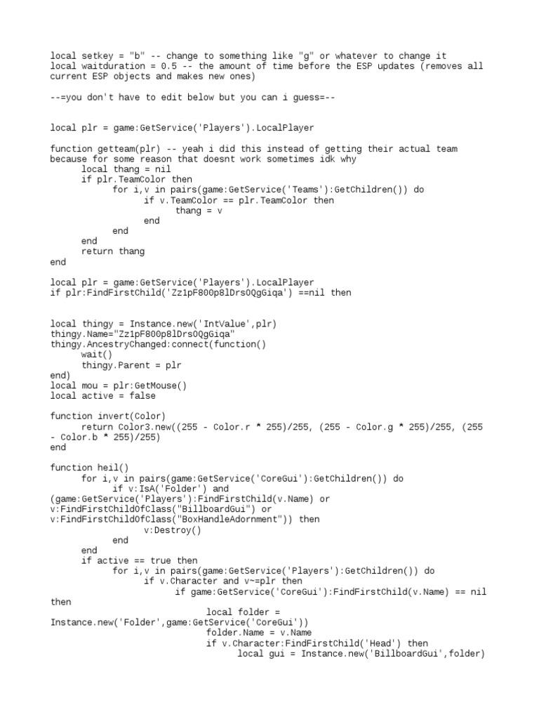 Roblox Esp Script
