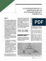 La Investigación en La Enseñanza de Las Actividades Físicas y Deportivas